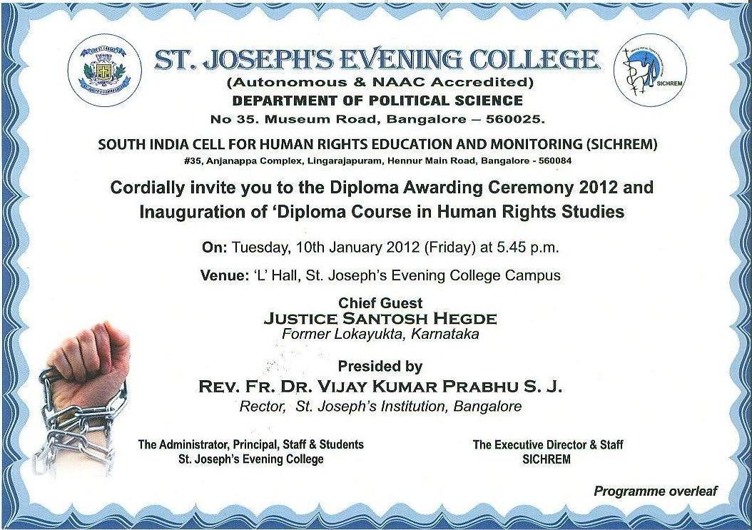 Diploma Awarding Ceremony 2012 SICHREM