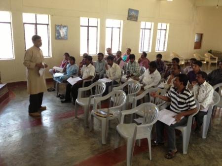 Mr. Lakshmi Prasanna from APSA handling session on the RTE Act