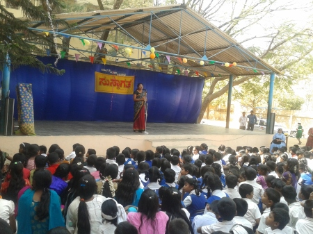 Delivering talk on Child Rights and Responsibility of Parents
