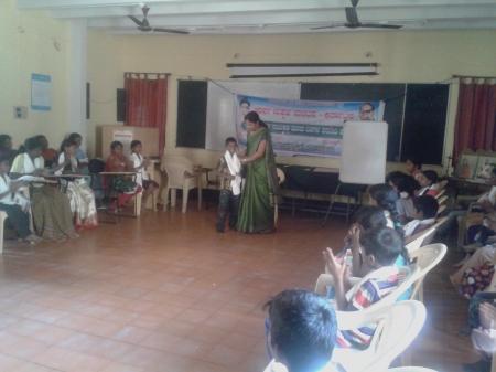 Childrens camp at Mysore organised by Adharsa Makkal Mantapa on 2-4 Feb