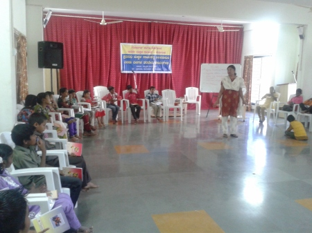 Childrens Camp on HR at Gulbarga orga by Adharsha Makkala Mantapa - 16&17 Feb