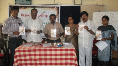 Bilingual handbook (Telugu & English) on RTE Act released at the Training