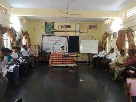 Mr. S S Rayudu, Convener, CACL - Rayalaseema, handling session on Child Rights