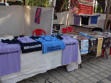 SICHREM was selling tshirts, books, posters and more