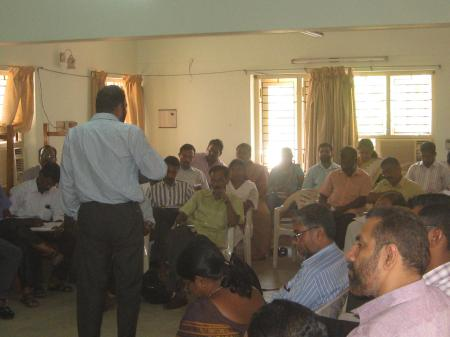 Mr. Mathews Philip, Executive Director, SICHREM handling session on the Ba